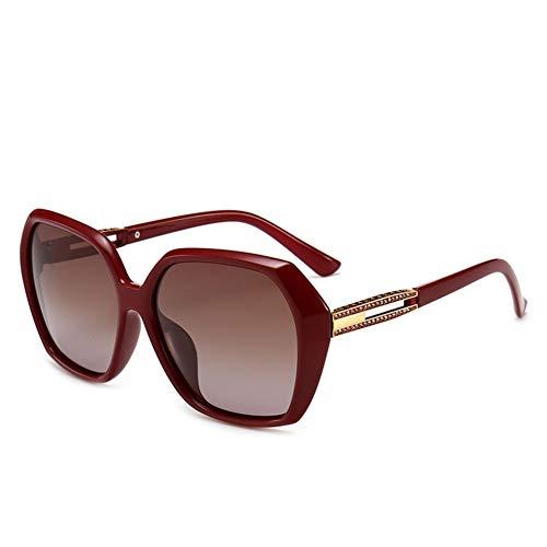 GTYHJUIK Klassische Polarisierte Damen-Sonnenbrille Vogue Oversized Shades Diamond Frame-Sonnenschutzspiegel Geeignet Für Outdoor-AktivitätenTea Lens