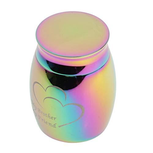 Milageto Pequeña urna de Recuerdo para Cenizas humanas Mini urnas de cremación para Cenizas Soporte de Cenizas conmemorativas de Acero Inoxidable, Botella de