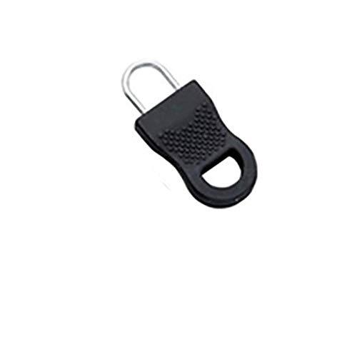 10pcs Conjunto de tirador de cremallera desmontable universal Cinturones anchos Mujeres Cintura elástica Vestido de bricolaje Suéter Hebilla de pasador Accesorio de ropa-Estados Unidos, Negro