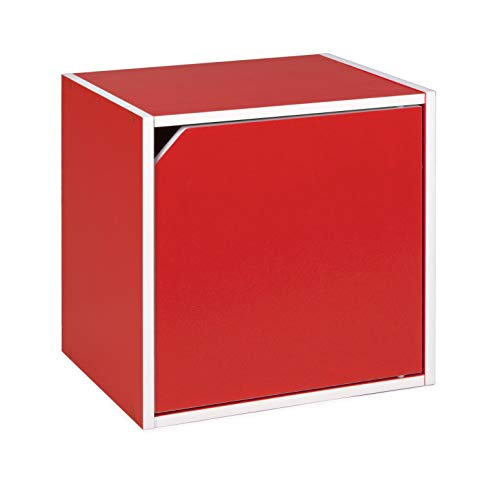 mobiletto bagno rosso BIZZOTTO cubo con Anta