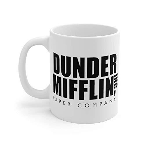 N\A Dunder Mifflin The Office Taza de café Divertida Taza de café Dunder Mifflin - Taza Blanca (11 oz)