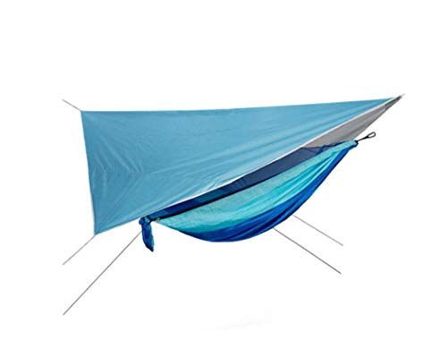 XUDREZ Camping Hammock with Mosquito Net and Rain Fly, Hammock Bug Net, Tree Hammock Tent for Outdoor Windproof, Anti-Mosquito, Swing Sleeping Hammock Bed (7)