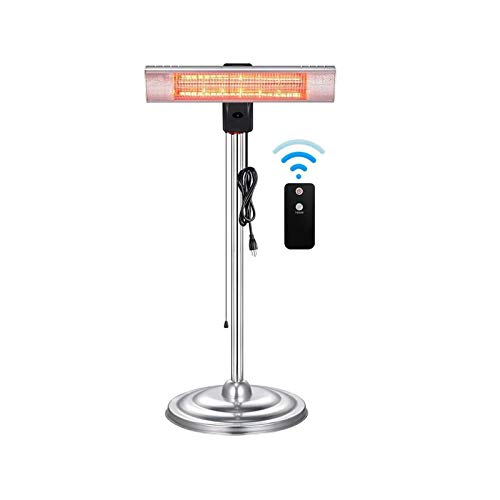 Electactic Infrared Heater Patio Heaters Freestanding&Wall Mounted Space Heater Multi Purpose Portable Heat Lamps Outdoor/Indoor Dust &Waterproof Heaters with Remote Control IP65 Rated