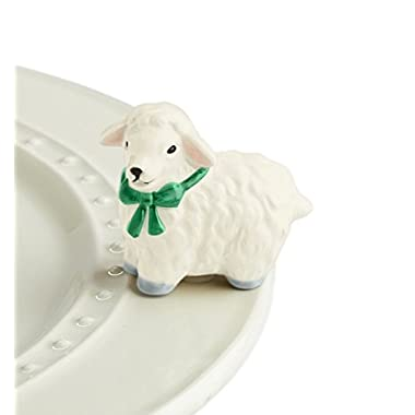 Nora Fleming Mini - Lamb - Hand-Painted Ceramic Charm - A195