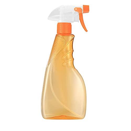 Nealan Botella pulverizadora de plástico vacía de 500 ml, botella de pulverización rellenable, botella pulverizadora para limpiar, jardinería, plantas, alimentación, peinado, cocina, baño (1, naranja)