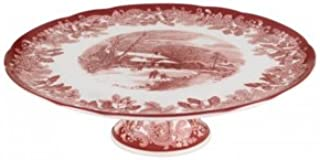 Spode Winters Scene Footed Cake Stand 27cm