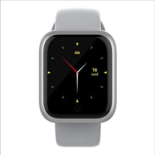 Pantalla Táctil Completa GT1 Reloj Inteligente,GPS Dormir Pulsera De Actividad Monitor De Frecuencia Cardíaca Impermeable Smart Watche Compatible con Teléfonos iOS O Android Blanco 1.3 Pulgadas