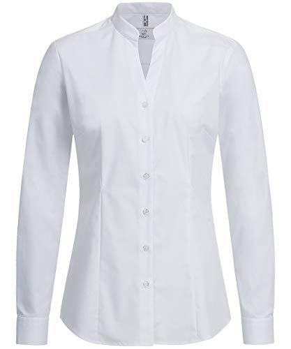 GREIFF Damen Stehkragenbluse Service Blusen & Hemden 6572 Regular Fit, Farbe: Weiß, Größe: 46