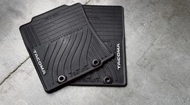 Genuine Toyota Accessories PT908-35122-20 Front and Rear All-Weather Floor Mat