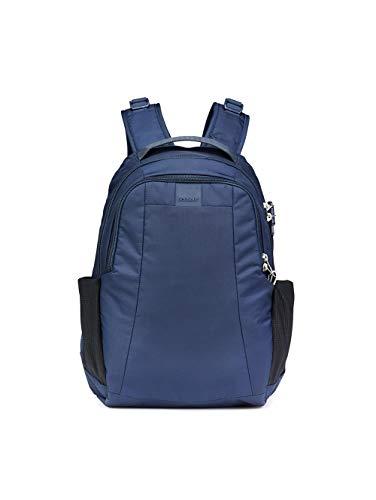 Pacsafe Metrosafe LS350 Nylon Rucksack mit Anti-Diebstahl Details für Damen und Herren, Daypack mit Diebstahlschutz, Tasche mit Sicherheits-Features, 15 Liter, Blau/Deep Navy