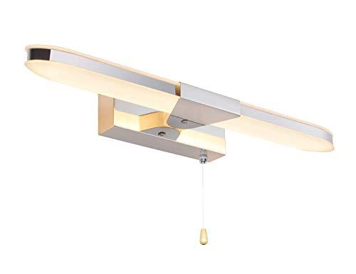 MantoLite Wandleuchte Bild Licht,Modern Badezimmer Lampe Nachttisch Leseleuchte Spiegel Leuchte Artwork Beleuchtung Fixture Mit Reißverschluss Schalter Für Wohnzimmer Acryl 8W 40CM 3000K Chrom Finish