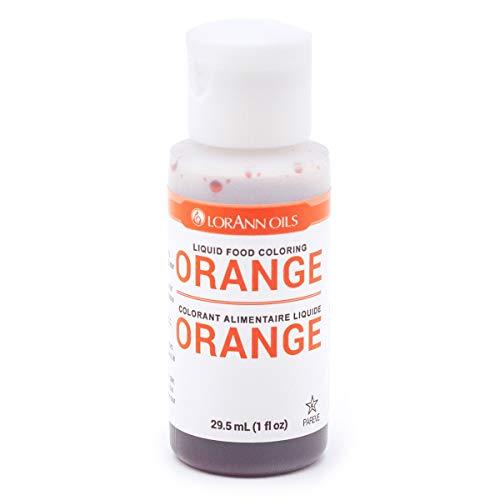 LorAnn Orange Liquid Food Color, 1 ounce squeeze bottle