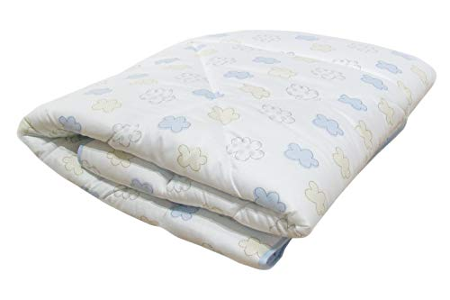 Odenwälder Baby Spieldecke & Krabbeldecke 100x135 cm/Liegedecke als Laufgittereinlage/Decke waschbar/Kuscheldecke, ideal als Laufstalleinlage, Spielunterlage, Design:Wolke bleu