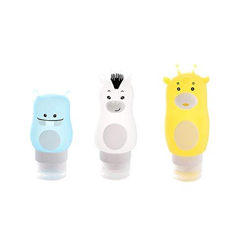 Travel Silicone Bottling Cute Cartoon Cosmetics Empty Bottle Portable Pressing Shampoo Shower Gel Bottle