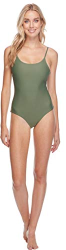 Body Glove Women's Smoothies Simplicity Solid One Piece Swimsuit, Cactus, Small