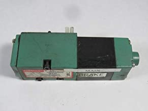 Numatics 153SA41BK000030 Mark 15 Single Solenoid 2 Pos/4 Way Valve w/Man Block 3/8 NPTF 120 VAC Plug-in w/Light w/Non-Lkg OR/Alt Out