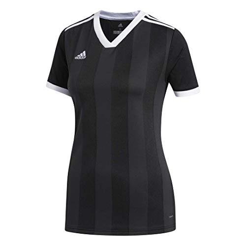 adidas Women's Alphaskin Tiro Jersey, Black/White, Large