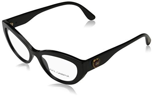 Dolce&Gabbana Damen 0DG3306 Brillengestelle, Schwarz (Black), 52