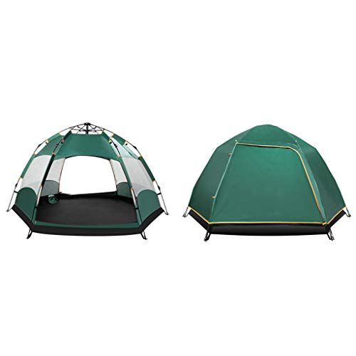 Tent 3~8 People Hexagonal, Outdoor Camping Sunshade And Weatherproof Camping, Fully Automatic Speed-open, 6 Mesh Double Layer Detachable
