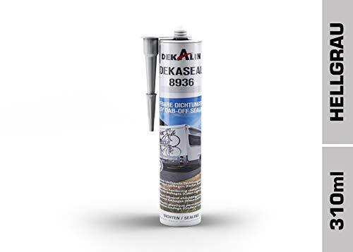 Dekalin Dichtstoff, 290 ml, hellgrau für Rahmen, Abläufe oder Wohnwagen und Wohnmobil Luken