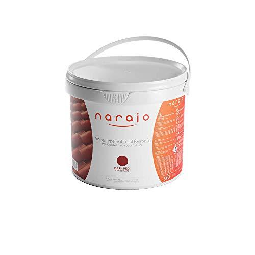 NARAJO® – Pintura Hidrófuga de Colores – Rojo oscuro – Impermeabilizante listo para usar para tejados – Aplicación sencilla – Producto en fase acuosa de calidad profesional – 5 kg