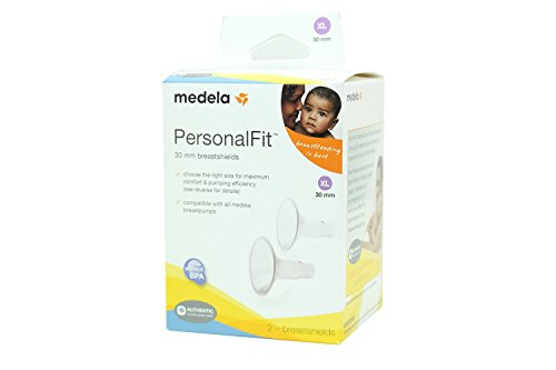 Medela PersonalFit Breastshields (2), Size: X-Large (30mm) in Retail Packaging (Factory Sealed) #87075 by Medela (English Manual)
