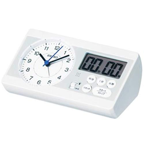 セイコー 学習用時計 STUDY TIME 置き時計 KR893W ホワイト