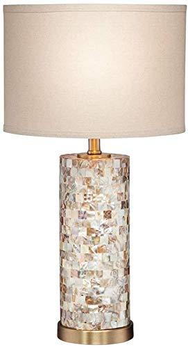 NA Gel Nail Lámpara de Mesa con iluminación Decorativa para Interiores, Estilo Europeo, Parasol Ovalado Blanco para Sala de Estar, Dormitorio Familiar, cabecera