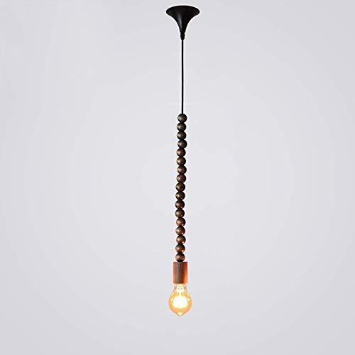 Kroonluchter Amerikaanse industrie kroonluchter creatieve retro-houten kralen kroonluchter Nordic cafe slaapkamer houten plafond kroonluchter combinatie van artistieke interesse. Huishoudelijke verlichting, stijlvol