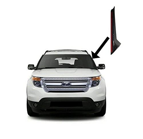 Front Left Side Windshield Outer Trim Molding Pillar Driver Side Replacement for...