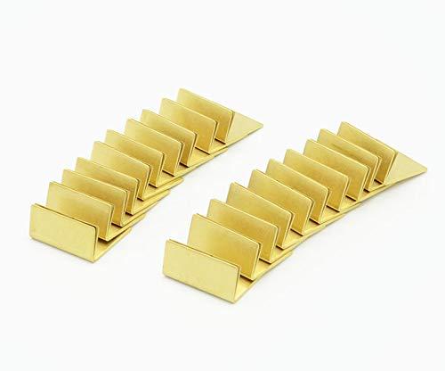 日本製 アンティーク調 真鍮カードスタンド 20個セット ブラス カードスタンド