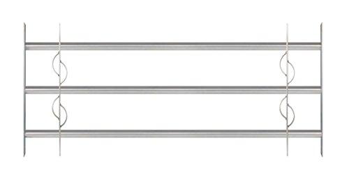 GAH-Alberts 563639 Fenstergitter Secorino Style - Einbruchschutz Gitter ausziehbar für Fenster außen - galvanisch blau verzinkt - 450 x 1000-1500 mm
