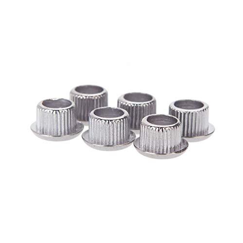 Doolland Gitaar Tuner Conversion Bushings Adapter Ferrules Nikkel Plating voor 8mm Peghead Gaten Zilver