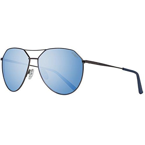 Guess Sonnenbrille GF0161 6108X Gafas de sol, Plateado (Gunmetal), 58 para Hombre