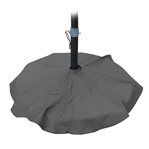 ZWYSL Furniture Set Cover Gray Umbrella Base Dust Cover Anti-UV Easy To Clean Windproof 210D Oxford Polyester, Custom Made (Color : Gray, Size : 90cm)