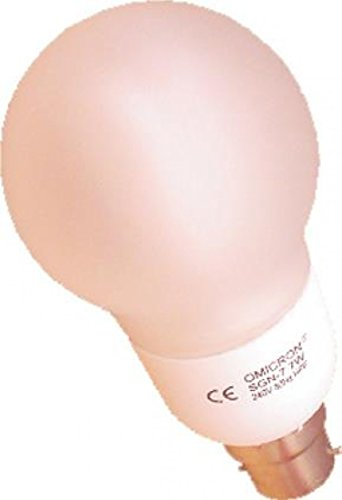 Omicron Classique GLS 7 W Fluocompacte Culot à vis