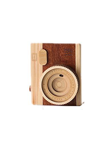 Allshiny Ornament. Studienschlafzimmerschreibtischphotographiedekorationsdekorations-Feriengeschenk der kreativen Kamera-Spieluhr hölzern (Style : Camera Music Box Short Paragraph)