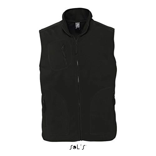 Sols - Norway - Unisex Fleece Weste , Black , 5XL