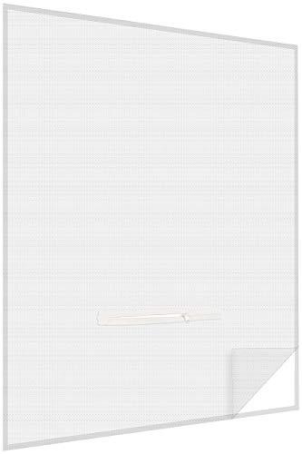infactory Fensterfliegengitter: Fliegengitter mit Fenster-Zugang, 150 x 180 cm, zuschneidbar, weiß (Moskitonetz für Fensterrahmen)