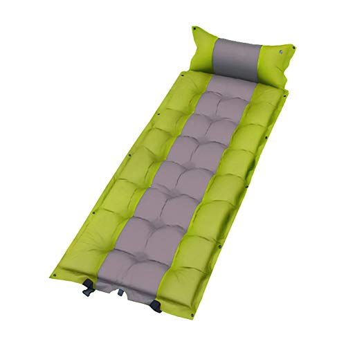 Ghafei Colchoneta inflable para dormir empalmable, portátil, plegable, autoinflable, a prueba de humedad, con almohada, para viajes de camping al aire libre