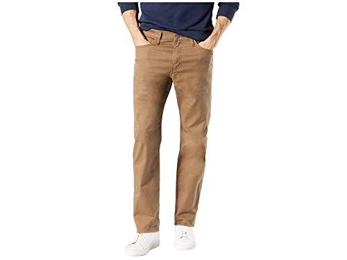 Dockers Men's Slim Fit Jean Cut All Seasons Tech Pants, Leather, 33 30
