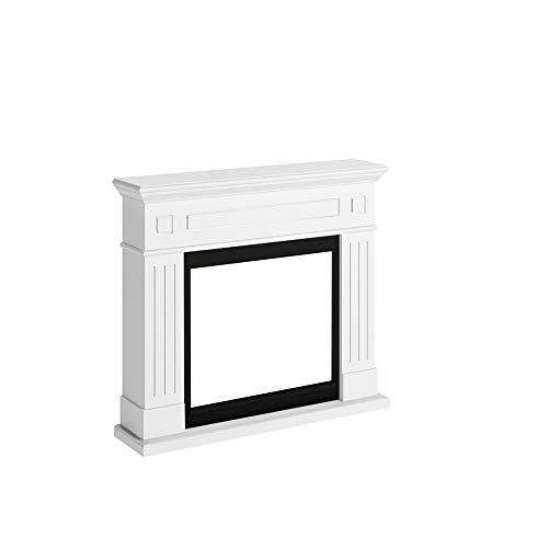 Tagu FM462-WH1 Marco decorativo de madera Larsen White para chimenea eléctrica empotrada Dimensiones LxAxA 110x24,9x94,9 cm