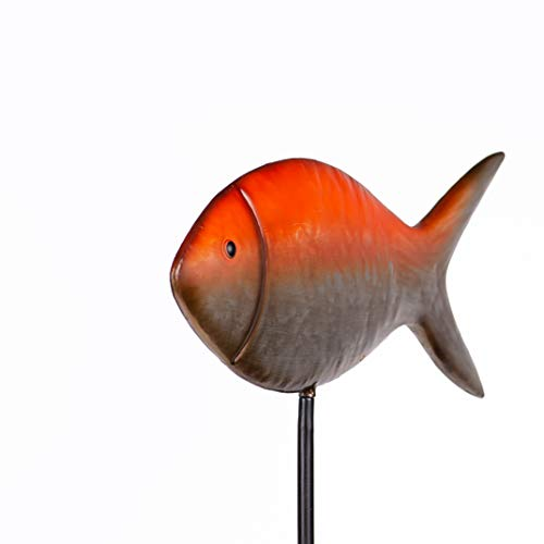 Ornamental Garden Stake Koi Fish/This Handcrafted Metal Garden Stake Decoration Will Transform Your Lawn, Garden, Patio and Pond and Outdoor Areas.