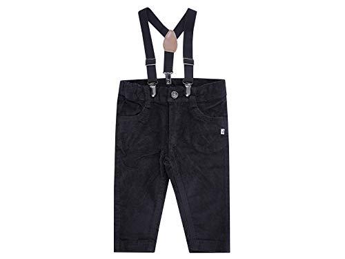 Jacky Baby Jungen Hose mit Hosenträgern festlich Taufmode, Größe:80, Farbe:schwarz
