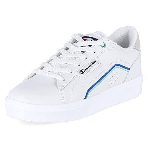 Champion Damen San Diego Weißer Veloursleder/Synthetik/Textil Sneaker Größe 38 EU Weiß (WHT White)