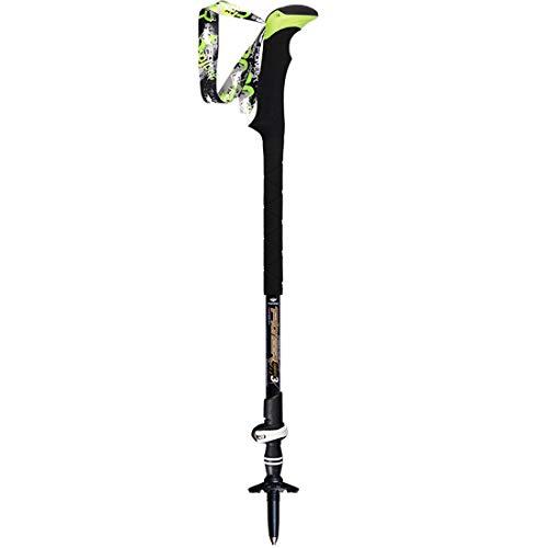 LNLW Sperren Leichte Outdoor Sports Retractable Wandern Carbon Fiber hohe Härte Dreier Sticks Accoutrement Kletter zusammenklappbarer Pole (Farbe : Schwarz, Size : 135cm)