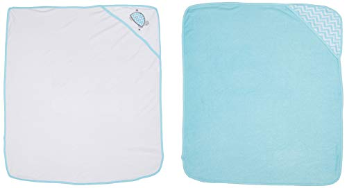Mother's Choice Baby Hooded Towel (Pack of 2, Blue)
