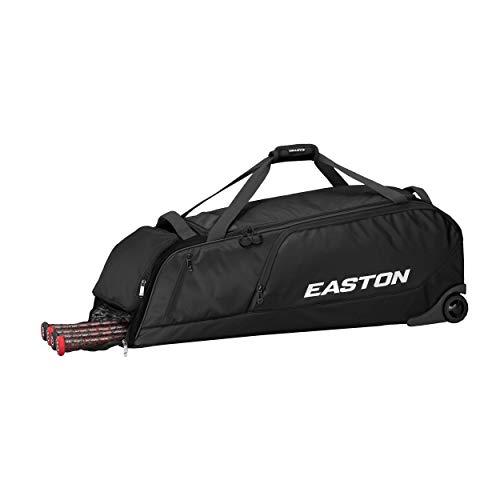 EASTON DUGOUT Bat and Equipment Wheeled Bag, Black