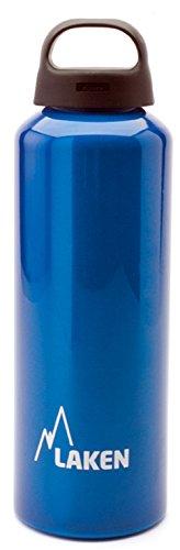 Laken Classic Botella de Agua Cantimplora de Aluminio con Tapón de Rosca y Boca Ancha, 0,75L Azul