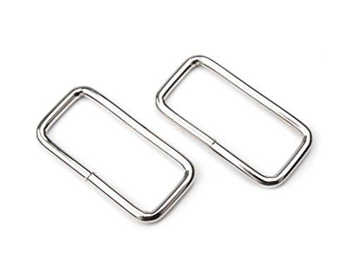 Vierkantring Schlaufe Durchzug; Metall, für 30mm Gurt / Band; 8 Stück